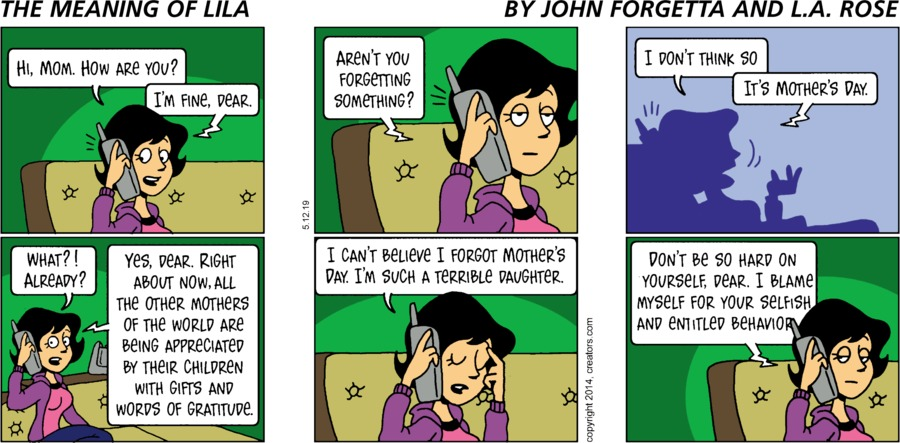 The Meaning of Lila by John Forgetta and L.A. Rose for May 12, 2019