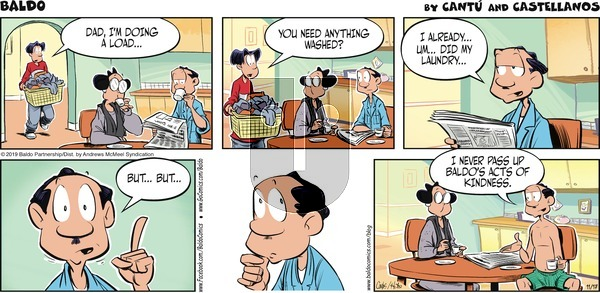 Baldo on Sunday November 17, 2019 Comic Strip