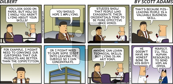 Dilbert - Sunday June 16, 2013 Comic Strip