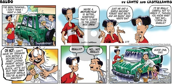 Baldo on Sunday June 15, 2003 Comic Strip