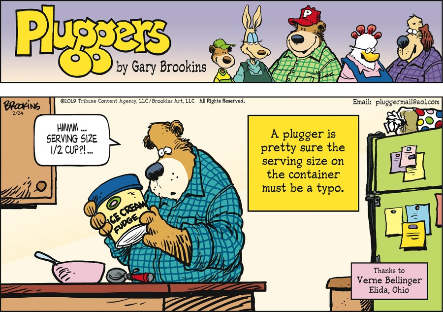 Pluggers Comic Strip for February 24, 2019