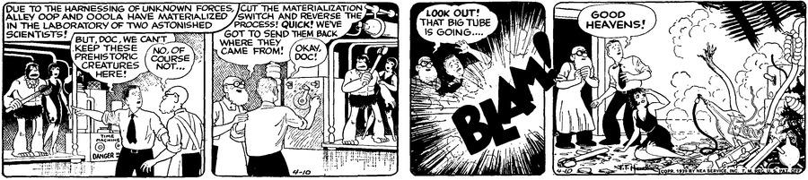 Alley Oop Comic Strip for April 10, 1939