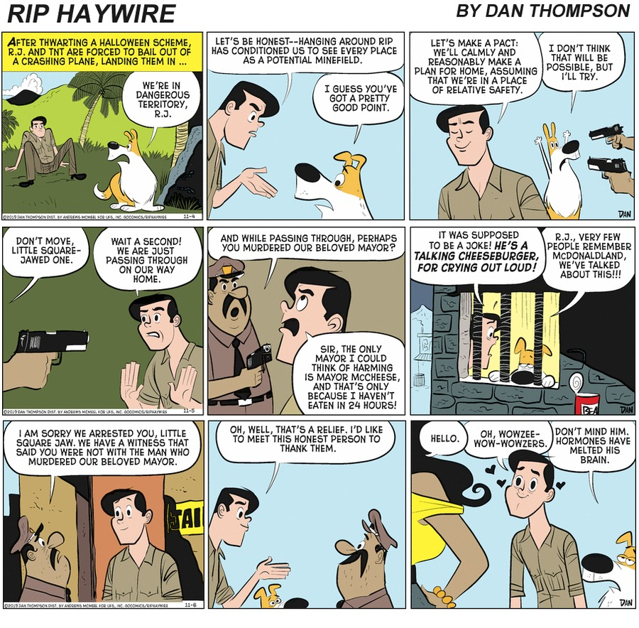 Rip Haywire Comic Strip for March 21, 2021
