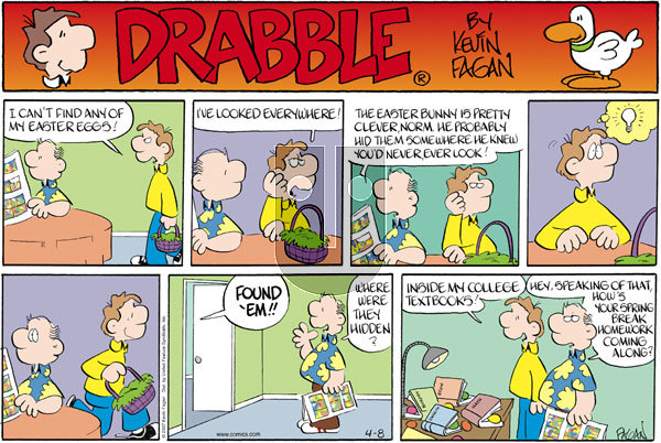 Drabble on Sunday April 8, 2007 Comic Strip