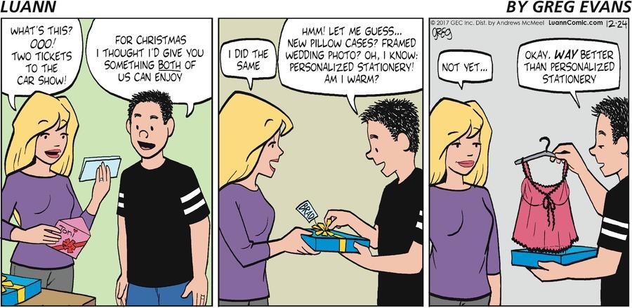 Luann Comic Strip for December 24, 2017