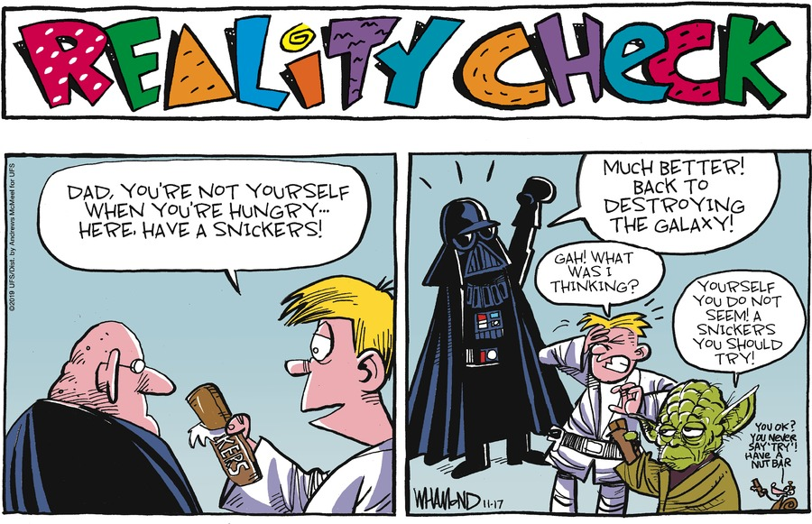 Reality Check Comic Strip for November 17, 2019