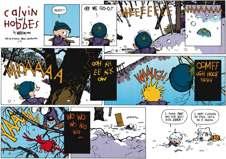 Calvin and Hobbes Comic Strip for February 19, 1995