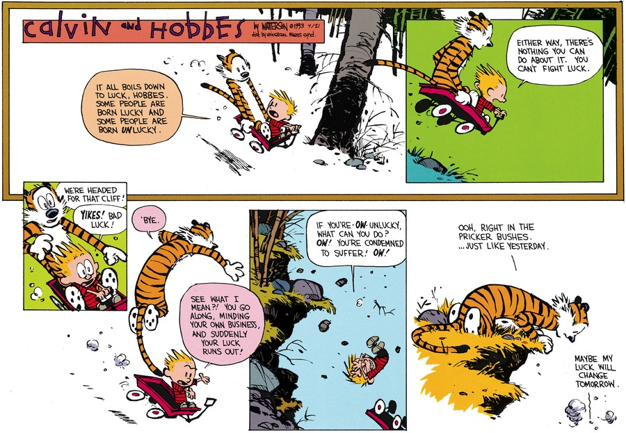 Calvin and Hobbes Comic Strip for April 21, 2013