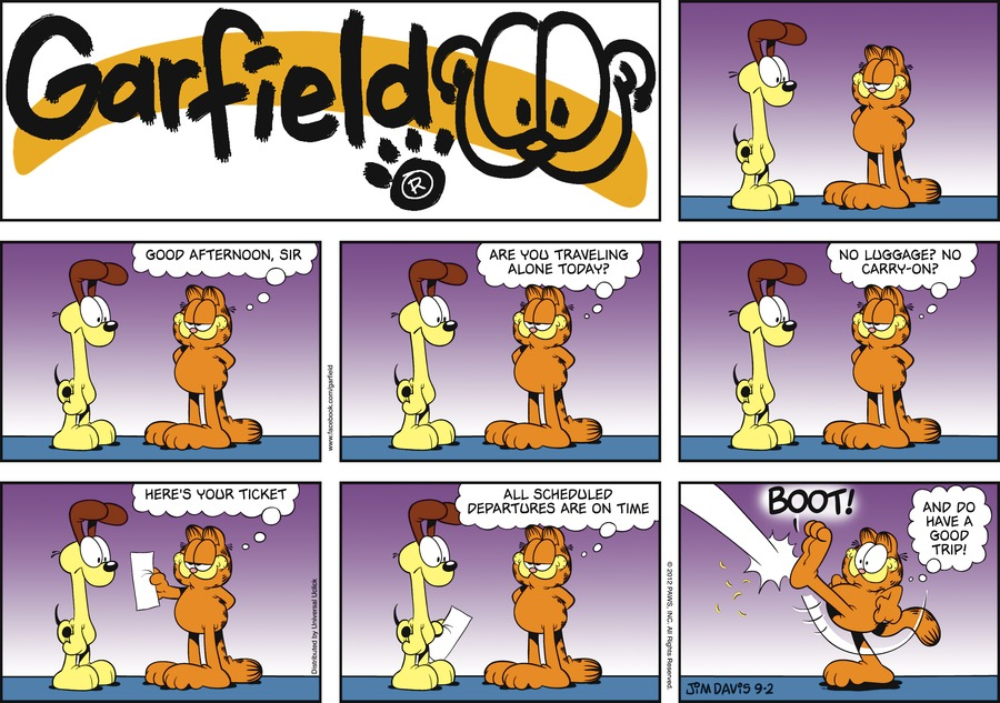 Garfield Comic Strip for September 02, 2012