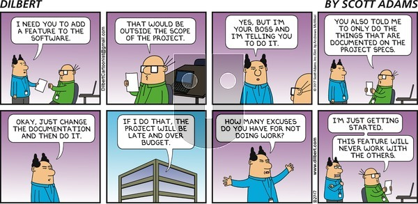 Dilbert - Sunday August 27, 2017 Comic Strip