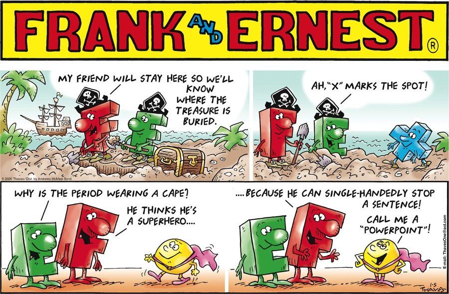 Frank and Ernest Comic Strip for January 05, 2020