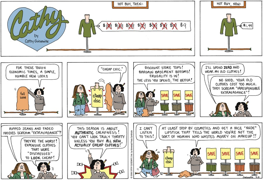 Cathy for Sep 21, 2008 Comic Strip