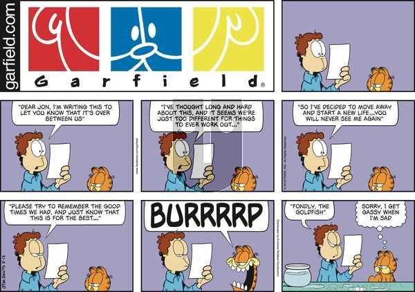 Garfield on Sunday May 13, 2018 Comic Strip