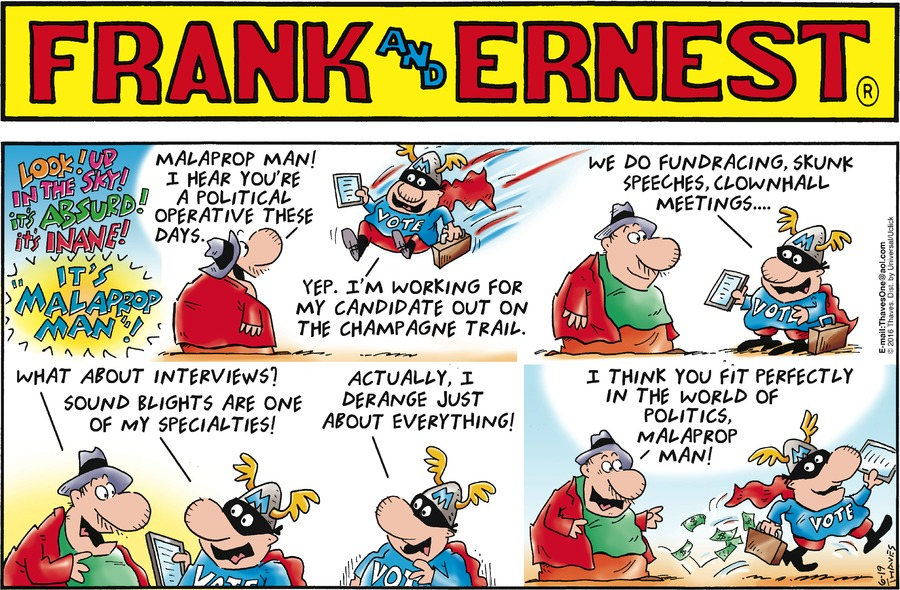 Frank and Ernest Comic Strip for June 19, 2016