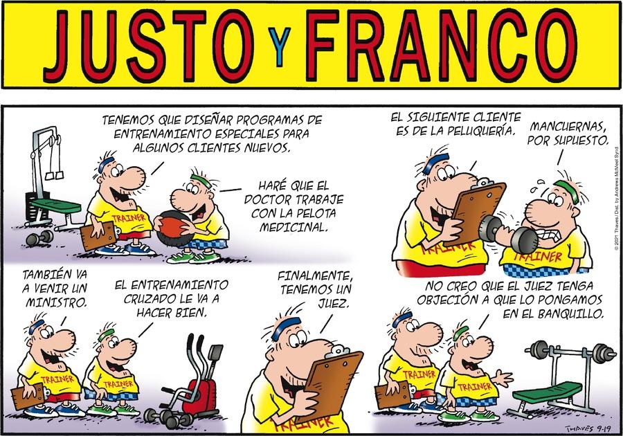 Justo y Franco Comic Strip for September 19, 2021