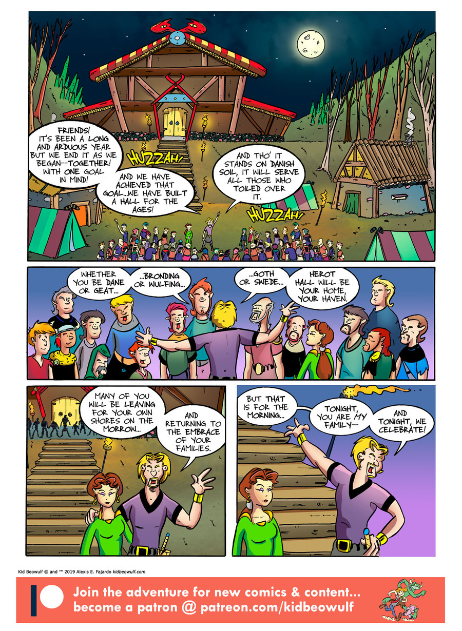 Kid Beowulf Comic Strip for July 19, 2019