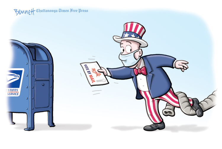 Clay Bennett by Clay Bennett on Tue, 13 Oct 2020