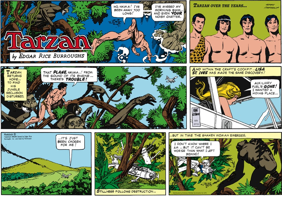Tarzan Comic Strip for August 09, 2020