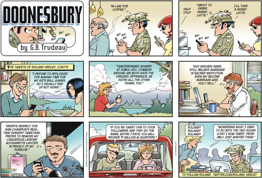 Doonesbury Comic Strip for July 19, 2009