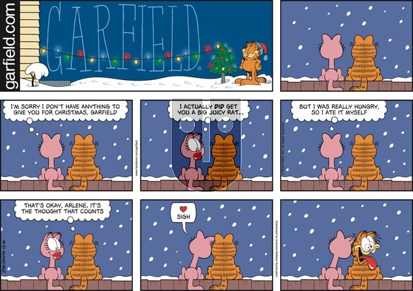 Garfield on Sunday December 16, 2018 Comic Strip
