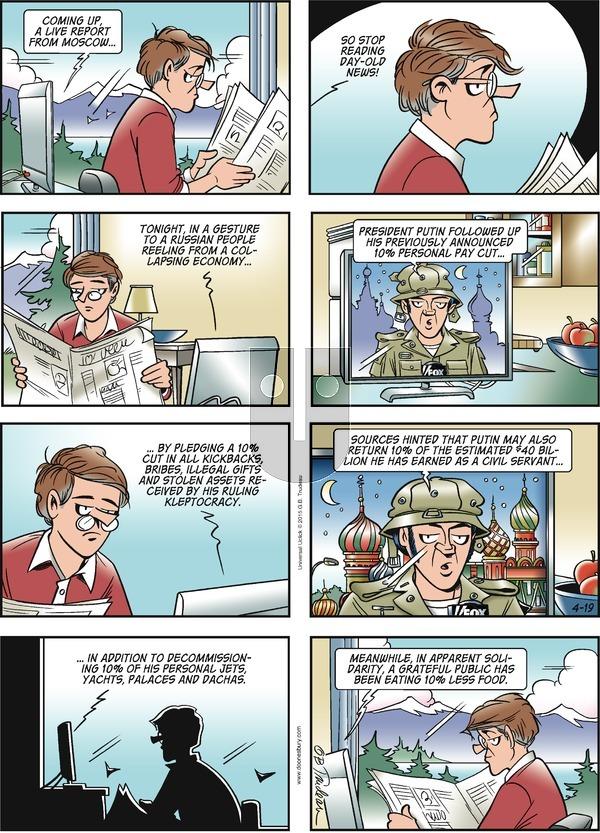 Doonesbury on Sunday April 19, 2015 Comic Strip