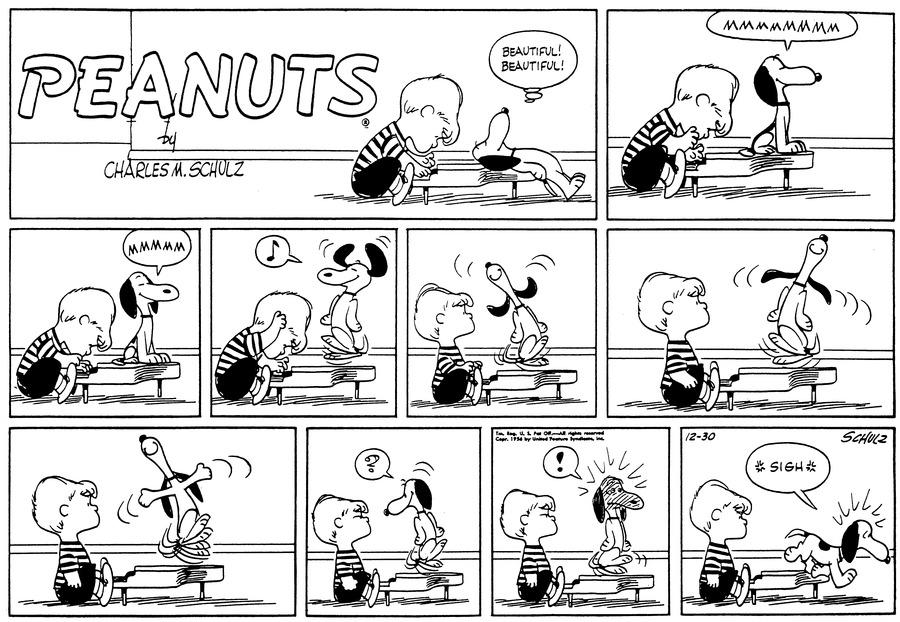 Peanuts Comic Strip for December 30, 1956