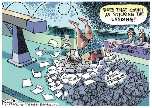 Rob Rogers on Sunday August 14, 2016 Comic Strip