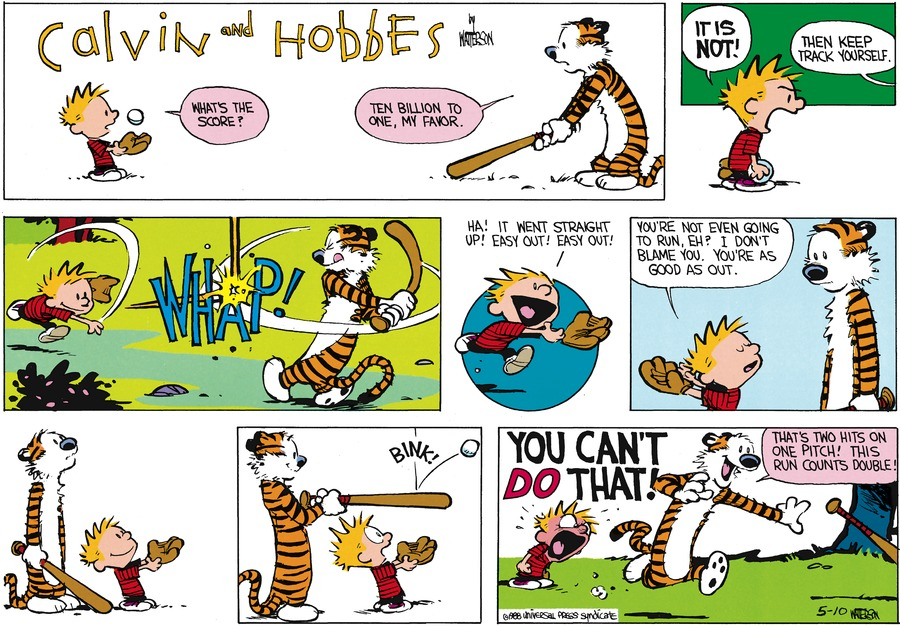 Calvin and Hobbes Comic Strip for June 19, 1988