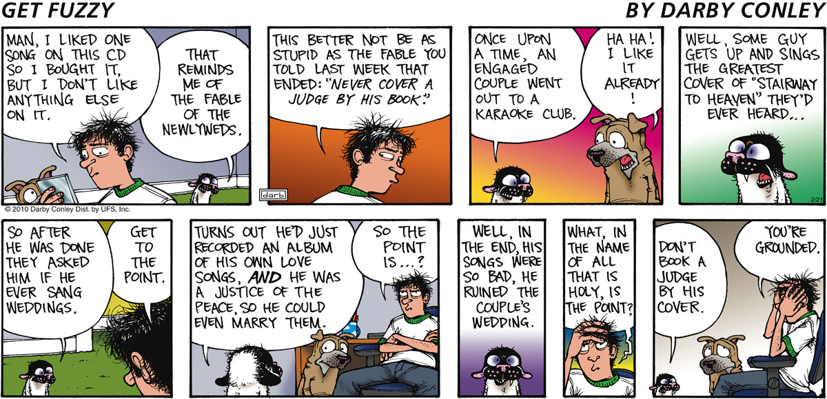 Get Fuzzy Comic Strip for February 21, 2010
