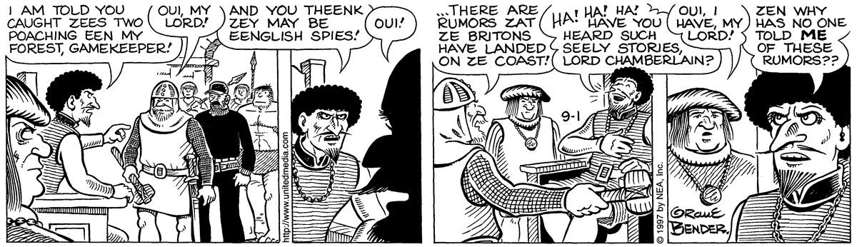Alley Oop for Sep 1, 1997 Comic Strip