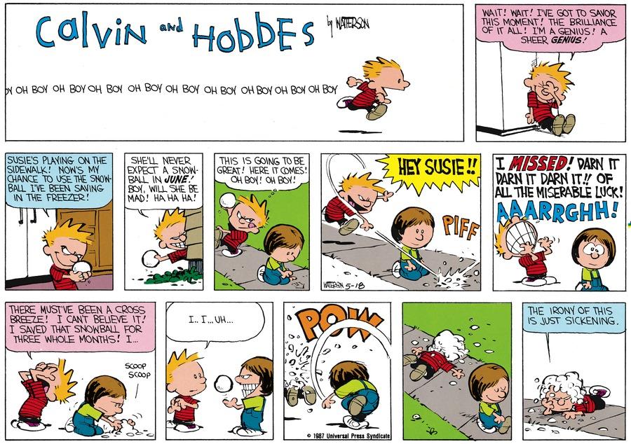 Calvin and Hobbes for Jun 21, 1987 Comic Strip