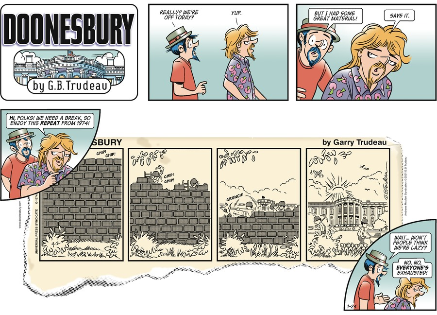 Doonesbury Comic Strip for January 24, 2021