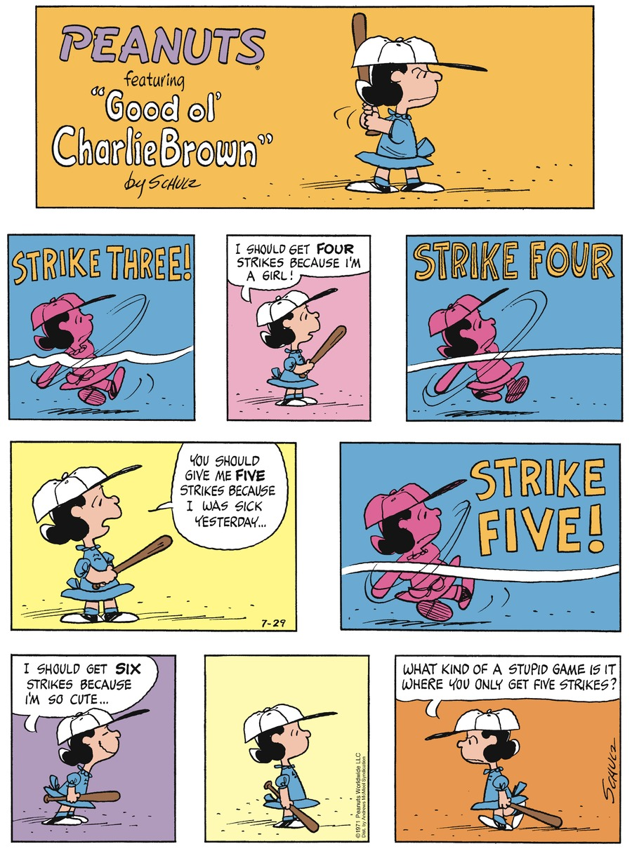 Peanuts Comic Strip for July 29, 2018