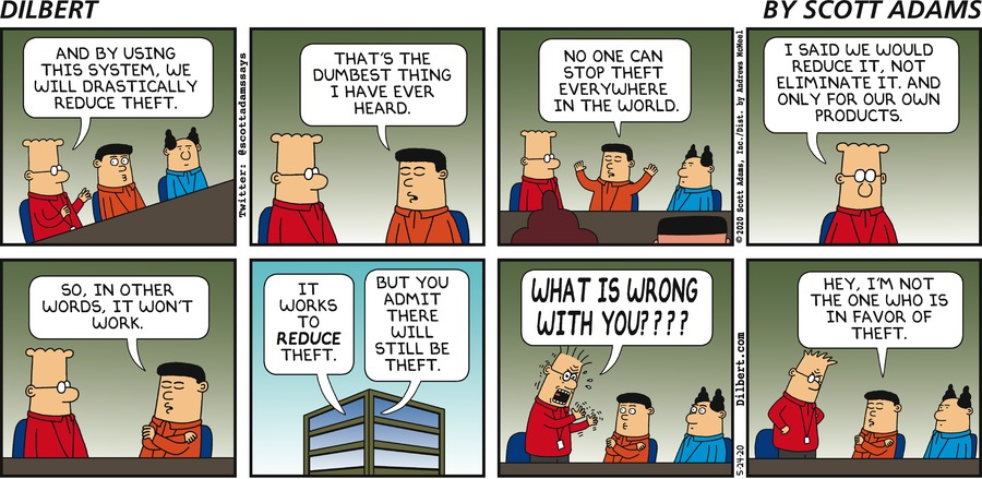 Stopping Theft Everywhere - Dilbert by Scott Adams