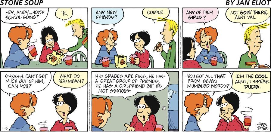 Stone Soup Comic Strip for November 15, 2009