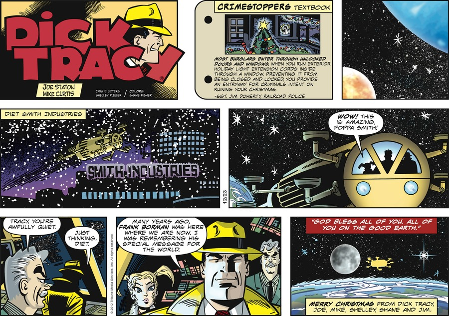 Dick Tracy Comic Strip for December 23, 2012