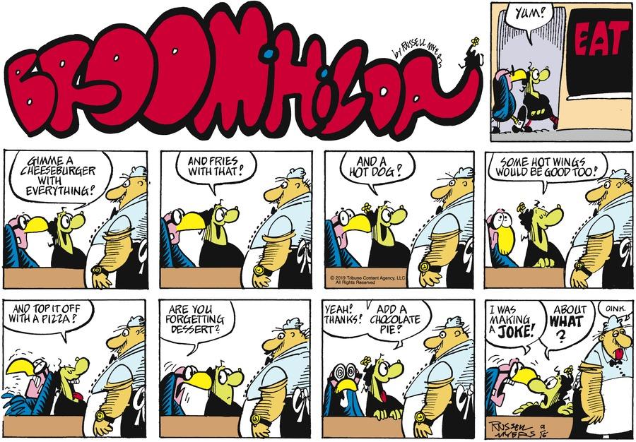 Broom Hilda Comic Strip for September 15, 2019