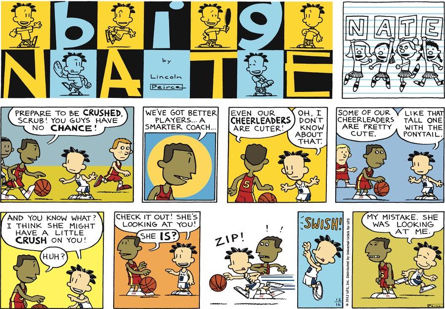 Big Nate Comic Strip for December 16, 2012