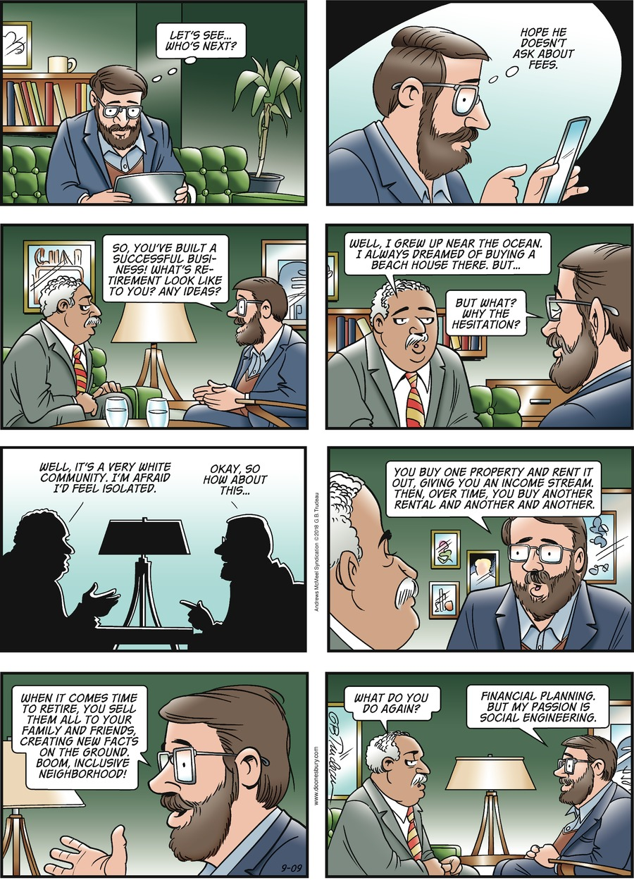 Doonesbury by Garry Trudeau for September 09, 2018