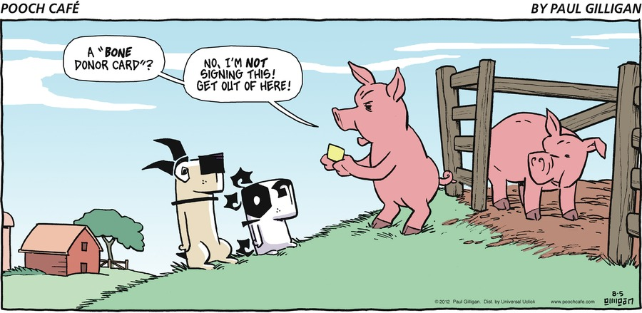 Pooch Cafe Comic Strip for August 05, 2012