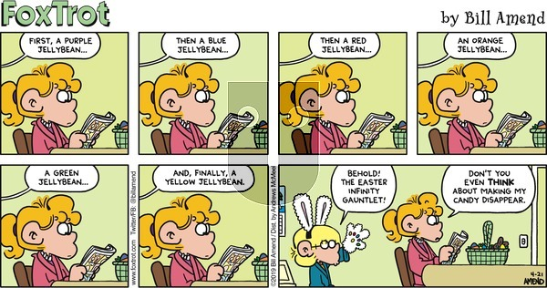 FoxTrot on Sunday April 21, 2019 Comic Strip