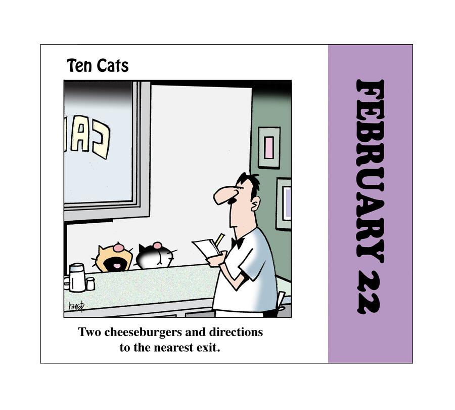 Ten Cats by Graham Harrop on Mon, 22 Feb 2021