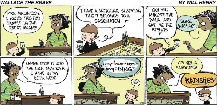 Wallace the Brave Comic Strip for September 30, 2018