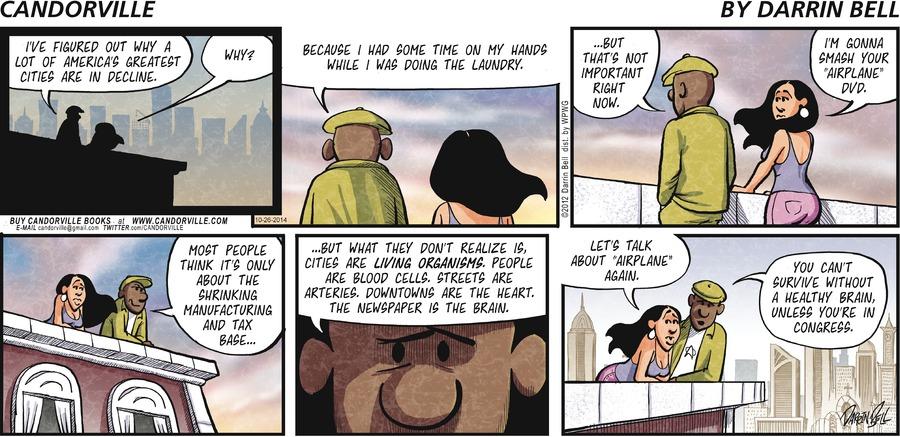 Candorville Comic Strip for October 26, 2014