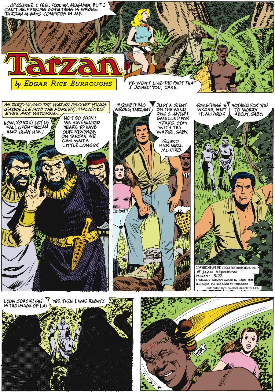 Tarzan for Jun 23, 2013 Comic Strip
