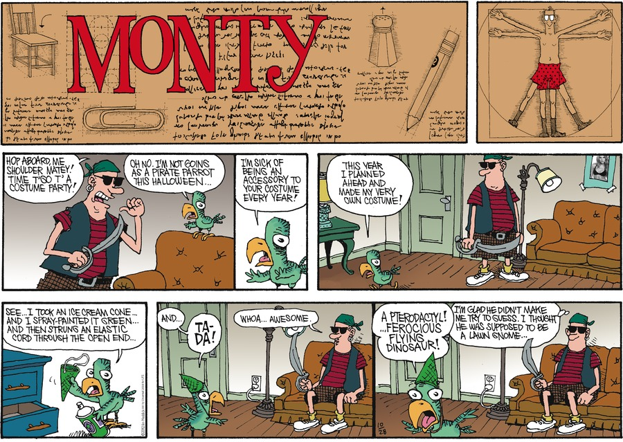 Monty for Oct 28, 2012 Comic Strip