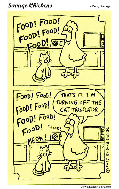 Savage Chickens Comic Strip for November 02, 2016