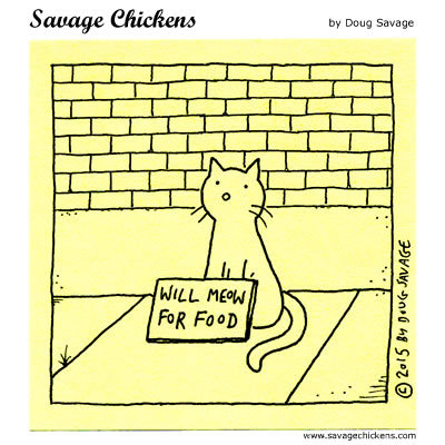 Savage Chickens Comic Strip for February 11, 2019