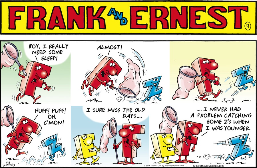 Frank and Ernest Comic Strip for September 08, 2019