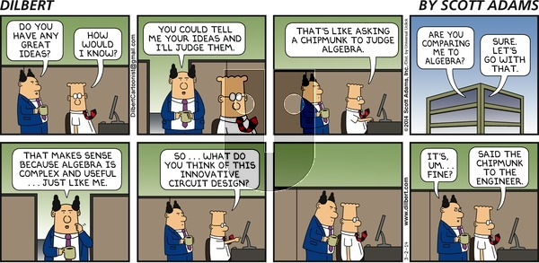 Dilbert - Sunday March 2, 2014 Comic Strip